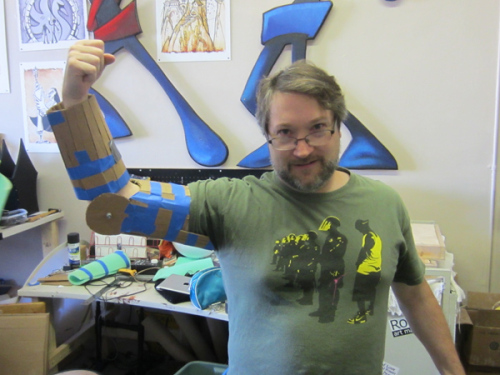 And after this, I am going to cut off my legs and replace them with awesome cardboard blades!
