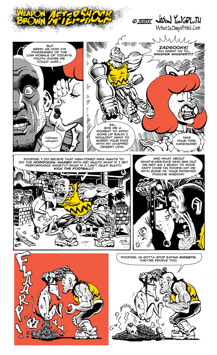 "Some guy tried to sell Chuck ""cat oil"" in place of lip balm, and Chuck made him eat the book he was protecting.